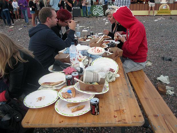 Weekend Festivalin siivoton pöytä